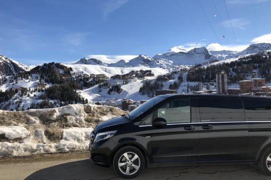 Transfert station de ski depuis aeroport et gare Alpes en VTC